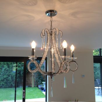 Crystal Chandelier fitted in Haslemere